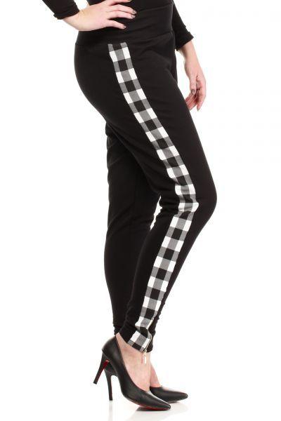 Czarne spodnie w rozmiarze plus size