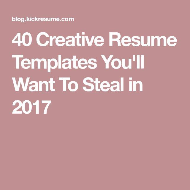 Best 25+ Creative resume templates ideas on Pinterest Cv - creative resume templates