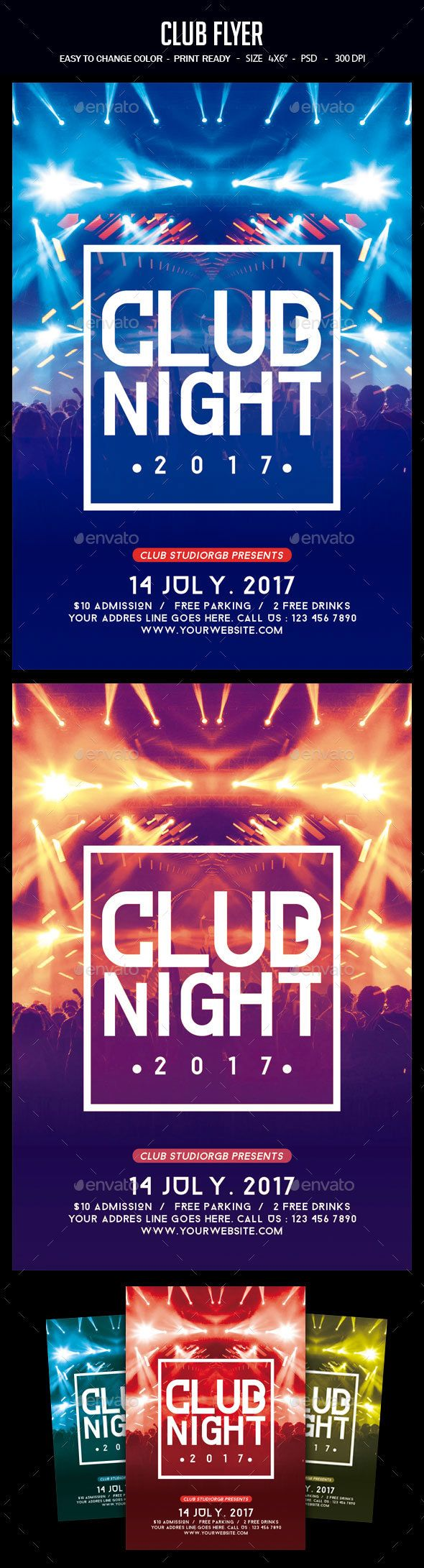 Club Flyer Template PSD