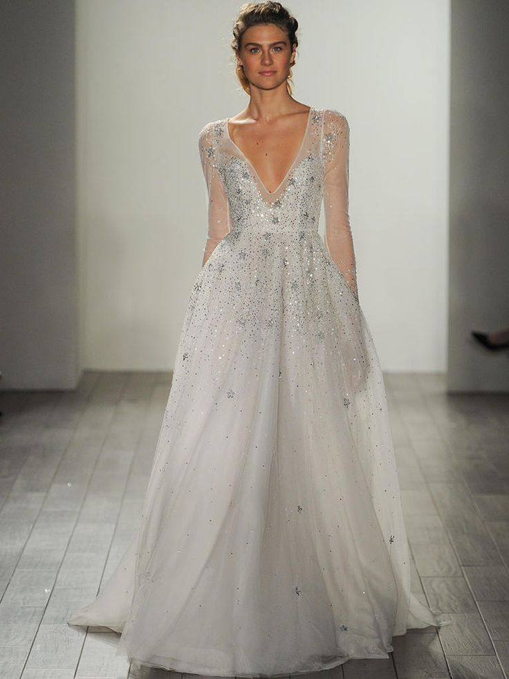 Best Hayley Paige Fall Shimmering Ethereal Wedding Dresses
