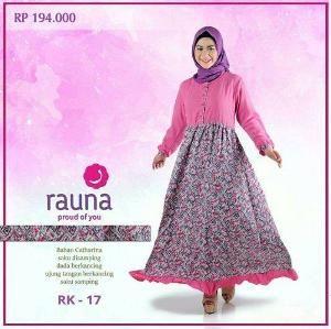Baju Muslim Wanita Gamis Rauna RK-17 Pink