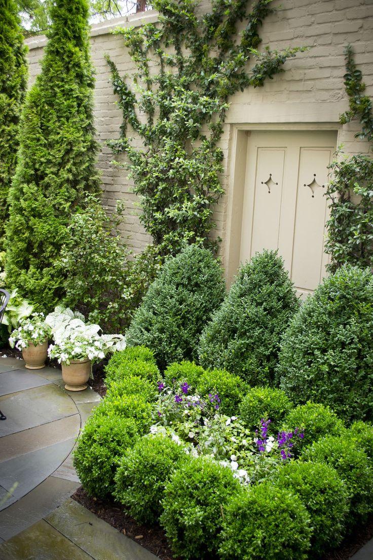 Gardening | Great green garden corner of a backyard.