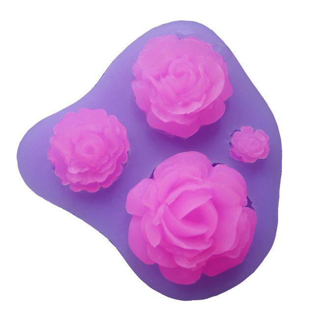 M025 розы форма фондант формы силиконовые формы для мыла кухонные принадлежности печенья конфеты и конфеты бисквит отделочных работ
