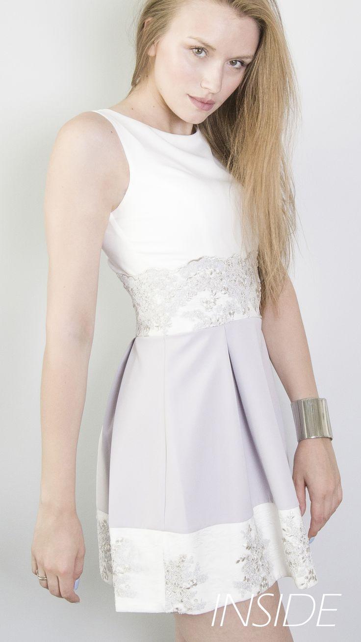 Sukienka idealna na wesele, chrzicny, komunię, 18stkę, 100dniówkę i wiele innych. Delikatne połączenie kolorów i elegancka koronka.  https://www.facebook.com/inside.sukienki
