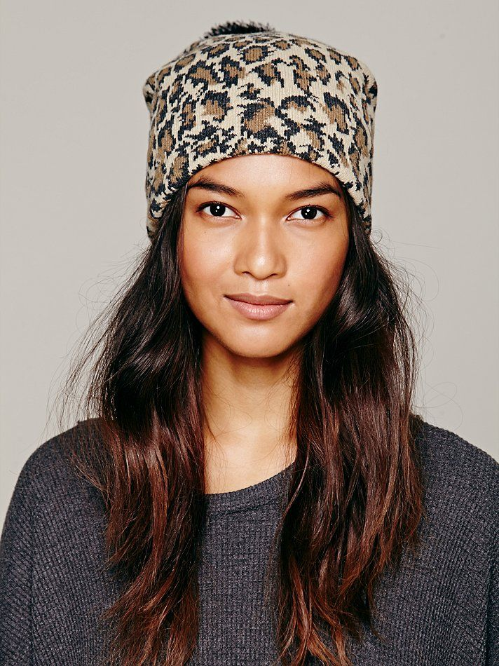 Free People Jaquard Print Pom Pom Beanie http://www.freepeople.co.uk/whats-new/jaquard-print-pom-pom-beanie/