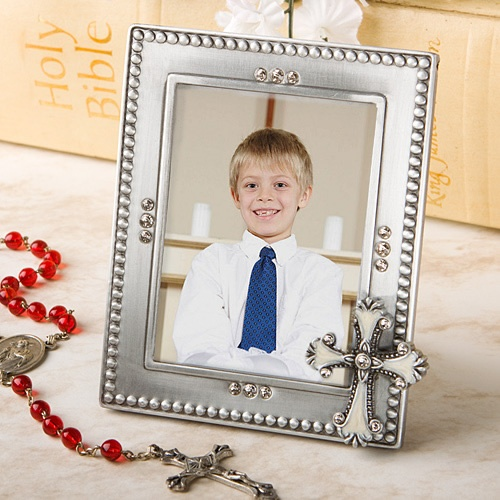 Communion, Confirmation and Baptism Frames Cross Themed Frame Favors