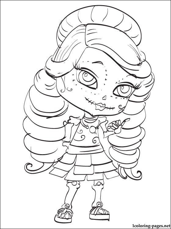 monsterhigh 13 wishes free colouring pages
