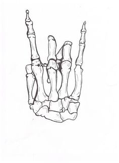 skeleton hand tattoo drawings - Google Search