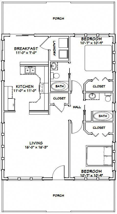 28×36 House — #28X36H1N — 1,008 sq ft – Excellen…