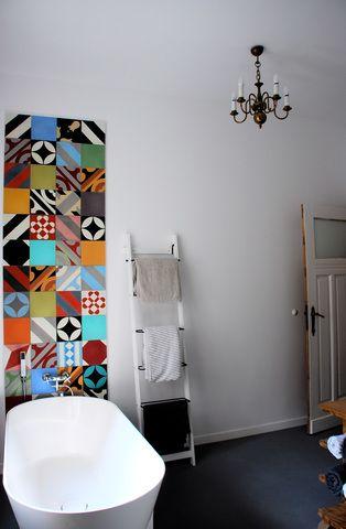 Bathroom. Tiles: Purpura. #cementtiles