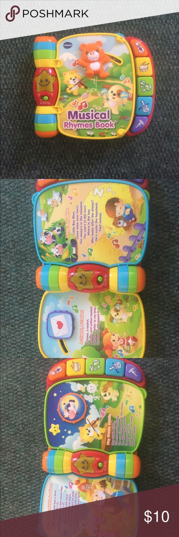 Vtech book It's a vtech book with music and reads the stories out loud vtech Other