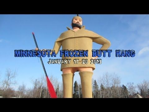 HammockForum's Frozen Butt Hang, Finland, MN - YouTube