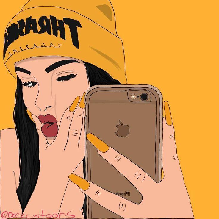 Image Result For Snapchat Filter Cartoon Cartoon Girl Drawing