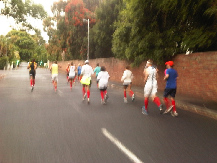 """""""A journey of 1,000miles, begins with a single step"""" We started meeting on a Friday for a run or walk or a jog in our red socks. First friday there were 7 of us, now there are close to 50 but there are now people getting together all over South Africa to run/walk/jog in their shoOops! Dreams CAN fly! One day maybe 1000s around the world doing the same? shoOops!"""