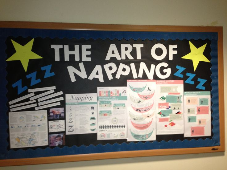 The Art of Napping RA Bulletin Board