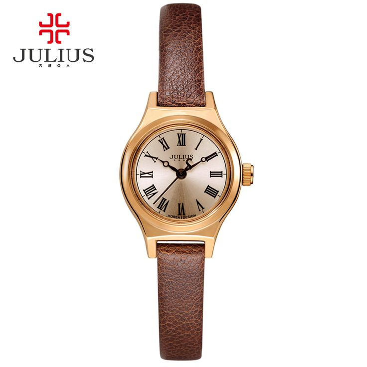 JULIUS Watch For Women JA-964 2017 New Spring Limited Edition Black Brown White Leather Luxury Watch Designer Clock Montre Femme