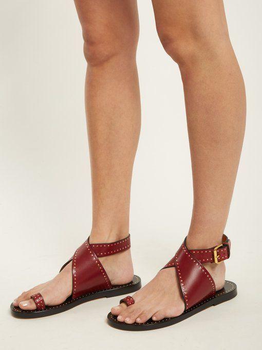 5a23af5e897 Isabel Marant Jools embellished leather sandals £450