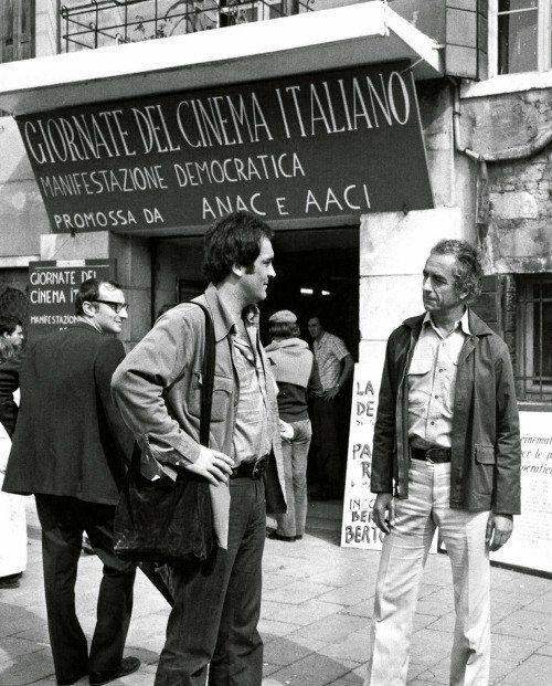Бернардо Бертолуччи и Микеланджело Антониони
