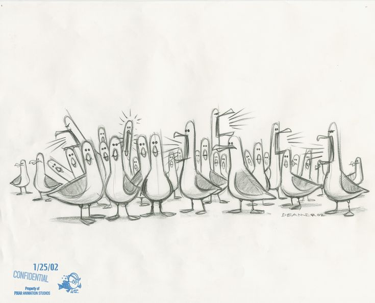 Would love a print of one these! 18 Pieces of Finding Nemo Concept Art You've Never Seen