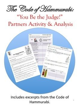 The Code of Hammurabi: You Be the Judge! Activity Bundle f