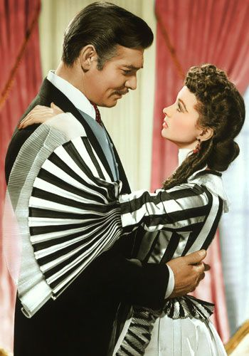 "One of my all time favourite movies! ""Gone With the Wind"" with Vivien Leigh and Clark Gable. And that dress!!! I want it!!!"