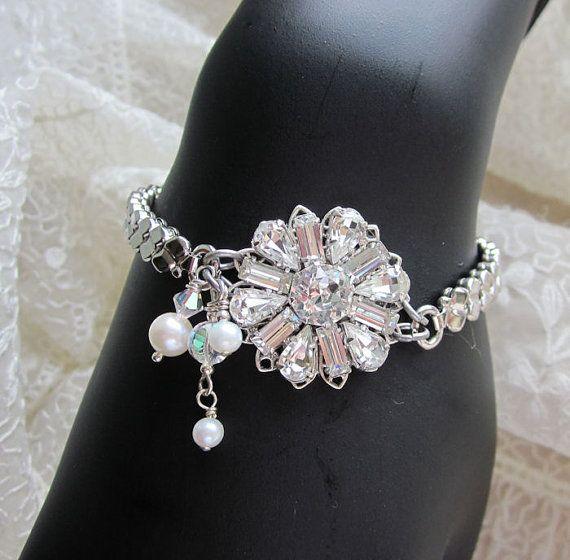 Wedding Vintage Repurposed Bracelet Watch Band By