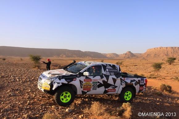 Isuzu D-Max at the Rally Aïcha des Gazelles Maroc 2013