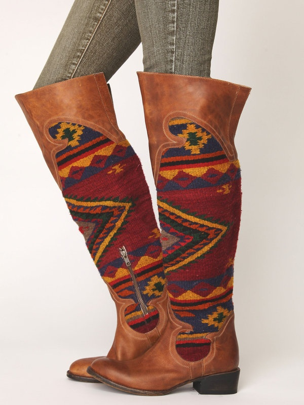 Western boots.