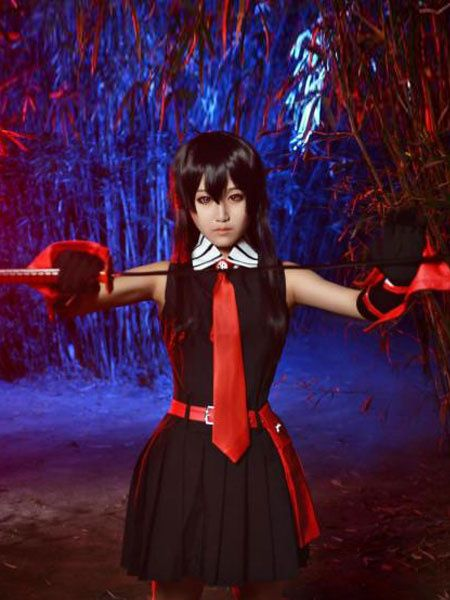 Akame Ga KILL! Kurome Halloween Cosplay Costume