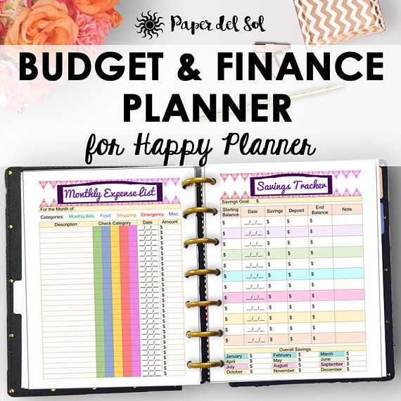 happy planner budget pages finance printables happy planner budget