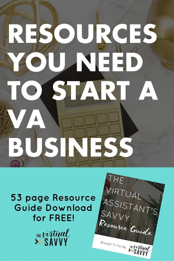 Virtual Assistant Resources: Tools you need to run a VA business. PLUS a free 53-page guide! Get the tools and resources you need to start your virtual assistant business today! Get your pricing, services, marketing, contracts and all the tools you need to grow your vusiness from thevirtualsavvy.com | #va #virtualassistant #marketing #socialmedia #blogging #branding