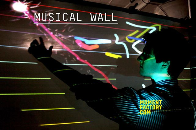 Musical wall by Moment Factory. www.momentfactory.com