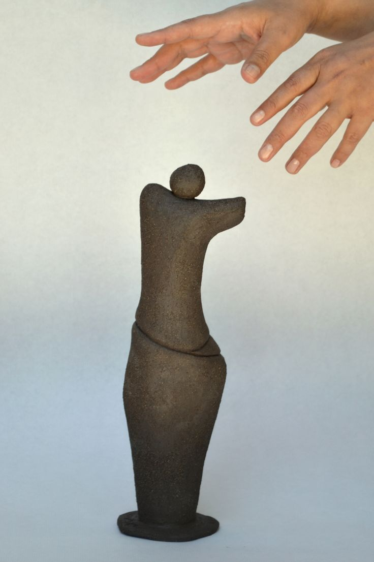 Ceramic Sculpture by Marilena Michopoulou inspired from Cycladic Ancient Art