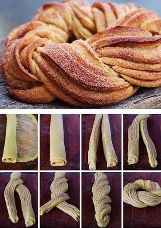 treccia di pasta sfoglia di farro senza burro alla applesauce proteica