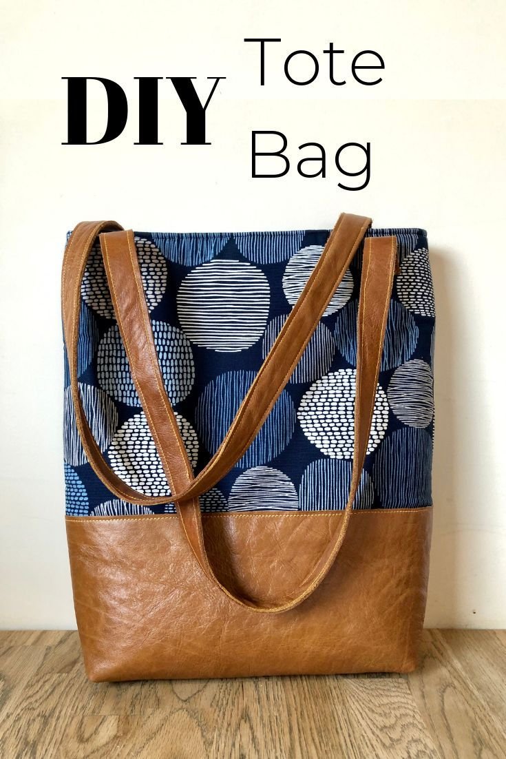 How To Make A Tote Bag With Lining Complete With Tablet Pocket Tote Bag Patters Tote Bag Tutorial Tote Bag Pattern
