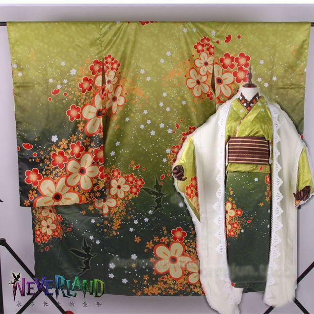 Amor vivo! Koizumi Hanayo SR año nuevo impresión vestido de Kimono japonés Cosplay traje