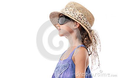 Child girl sunglasses hat summer isolated by Alvera, via Dreamstime