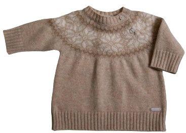 388002 Jersey bebe boy de Girandola.jpg Jersy con jacquard geométrico en el cuello #cuello redondo