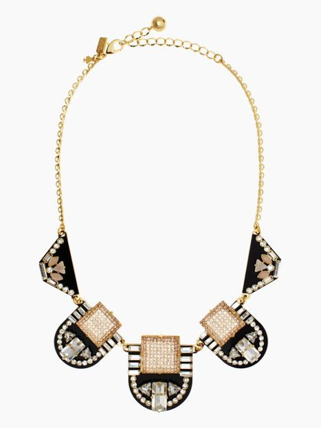 This statement necklace adds the PERFECT amount of sparkle to any outfit! @katespadeny