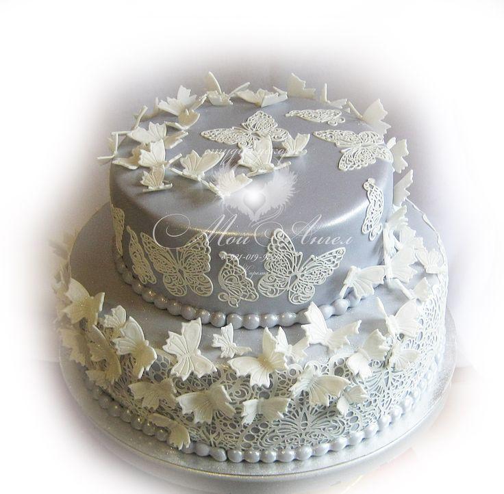 Wedding cake with batterfly. Свадебный торт с бабочками.
