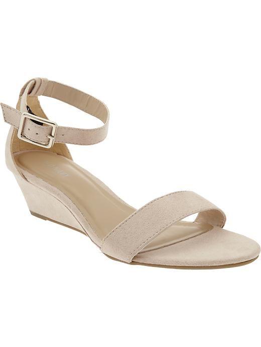 Women's Sueded Demi-Wedge Sandals | Old Navy
