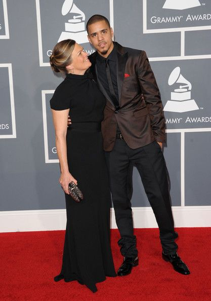J. Cole in DSquared2. (With his mom.)