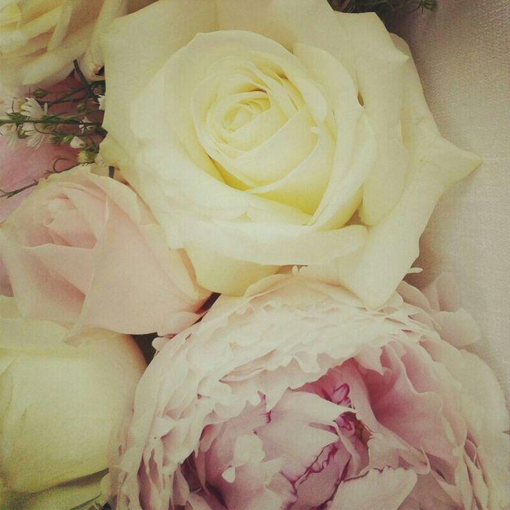 Pale Pink Peonies and Roses #Bridal Bouquet #LakeComoWeddingsAndEvents