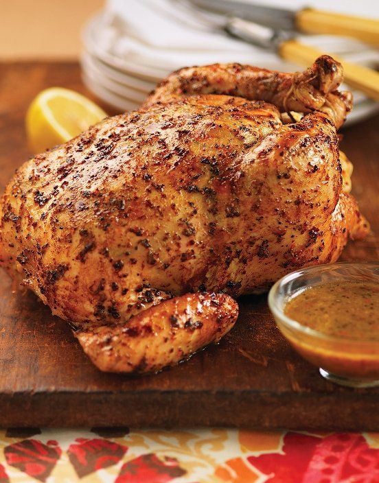 Tuscan Garlic & Herb Whole Roasted Chicken Recipe