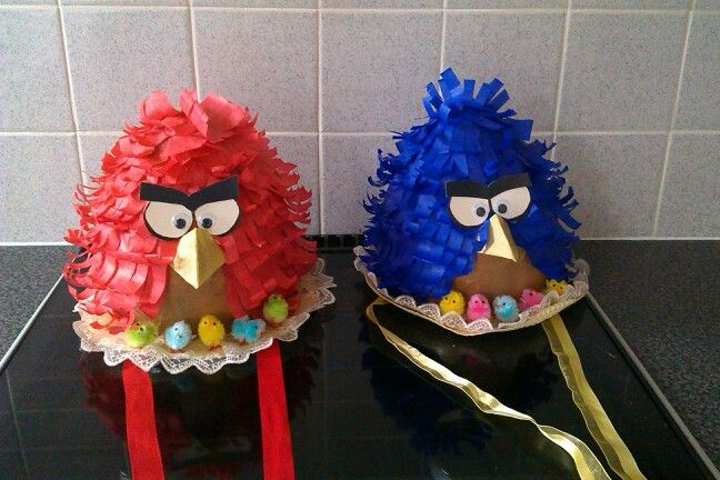 Angry birds easter bonnets