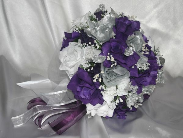 Purple And Silver Wedding Accessories Fashion Dresses