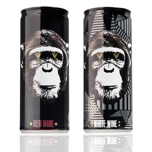 """8 Canned Wines That Will Make You A Convert #refinery29  http://www.refinery29.com/best-canned-wine#slide-4  The Infinite Monkey Theorem ($15 for a 4-pack)The Infinite Monkey Theorem is an urban winery that boasts """"back alley winemaking at its finest."""" With all bases covered, including red, white, rosé, and even moscato wines, we could definitely go ape for this hip sip in a can..."""