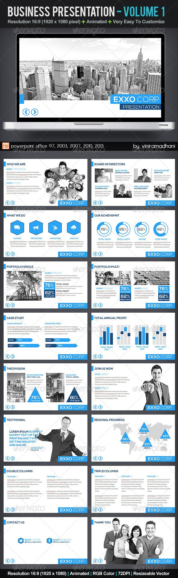 Business Presentation | Volume 1 - Business Powerpoint Templates