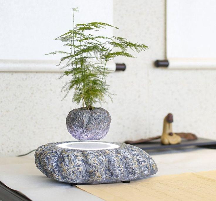 magnetic levitation air bonsai Suspension flower
