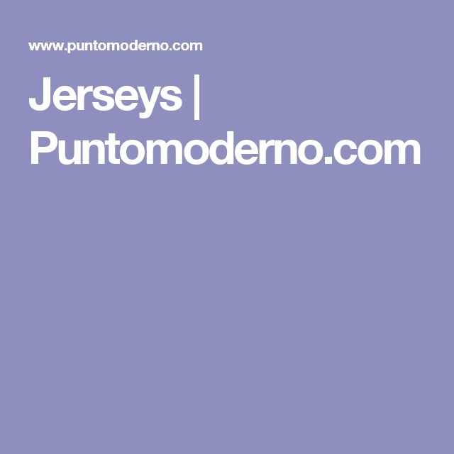 Jerseys   Puntomoderno.com
